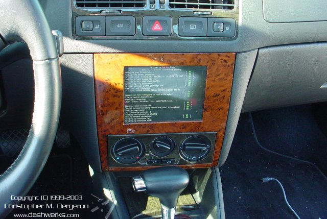 Red Hat Linux booting in the car