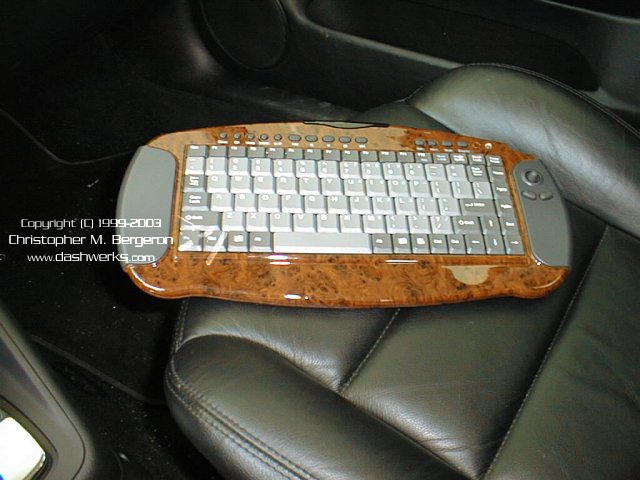 The wireless keyboard